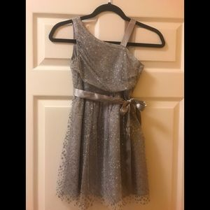 Silver sparkle dress - size 7